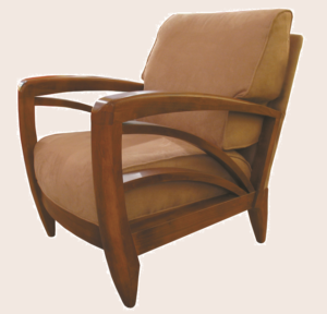 Contemporary chair in wood